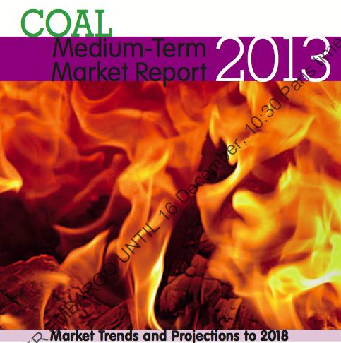 Der neue Kohlebericht der IEA mit einem Ausblick bis 2018